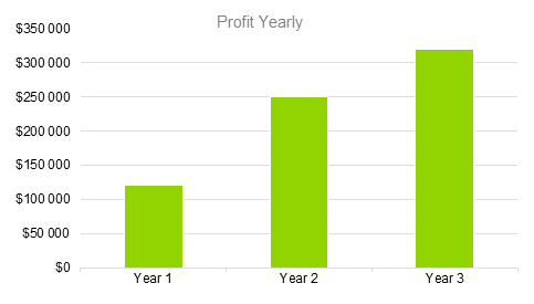 Hotel Business Plan - Profit Yearly
