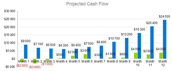 Hotel Business Plan - Project Cash Flow