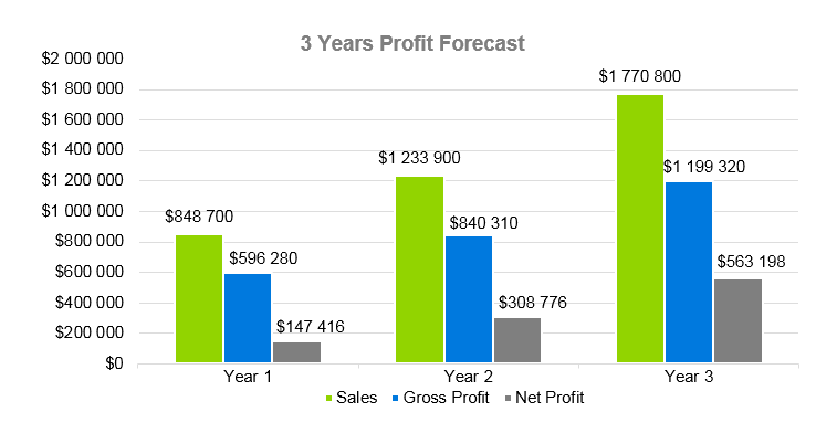 SaaS Business Plan - 3 Years Profit Forecast