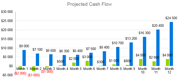 Architecture Firm Business Plan - Projected Cash Flow