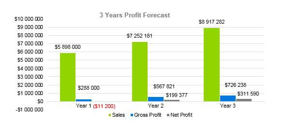 Home Inventory Business Plan - 3 Years Profit Forecast