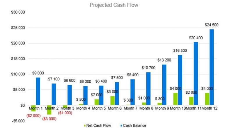 Goat Farming Business Plan - Projected Cash Flow