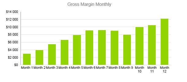 Car Accessories Business Plan - Gross Margin Monthly