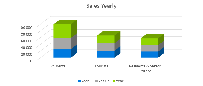 Car Rental Business Plan - Sales Yearly