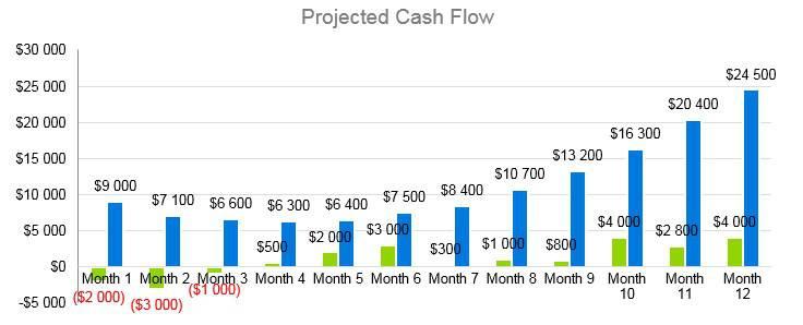 Agriculture Fruit Farm - Projected Cash Flow
