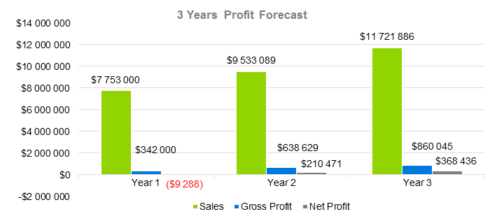 Technology Business Plan - 3 Years Profit Forecast