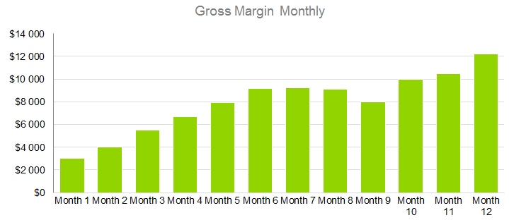 Technology Business Plan - Gross Margin Monthly