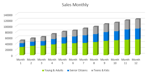 Ecommerce Business Plan - Sales Monthly