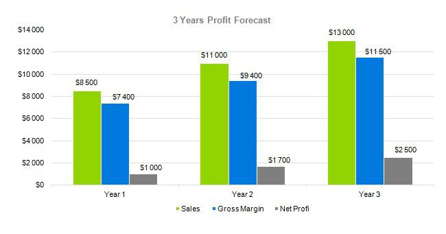 Baby Clothes Business Plan Sample - 3 Years Profit Forecast
