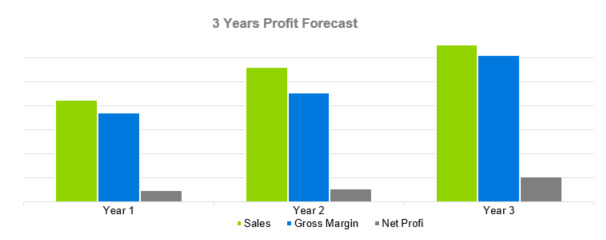 Art Gallery Business Plan - 3 Years Profit Forecast