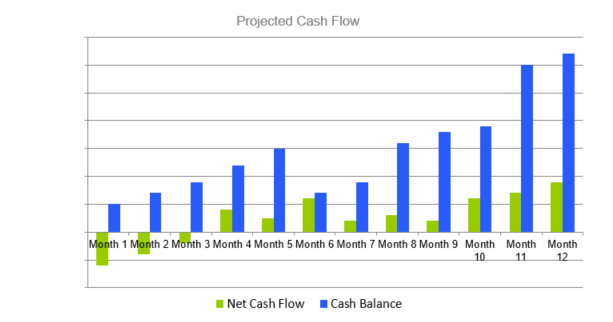 Gas Station Business Plan - Projected Cash Flow