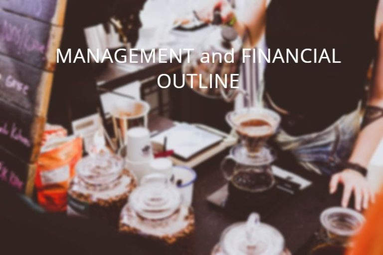 Coffee shop business plan - management and financial outline