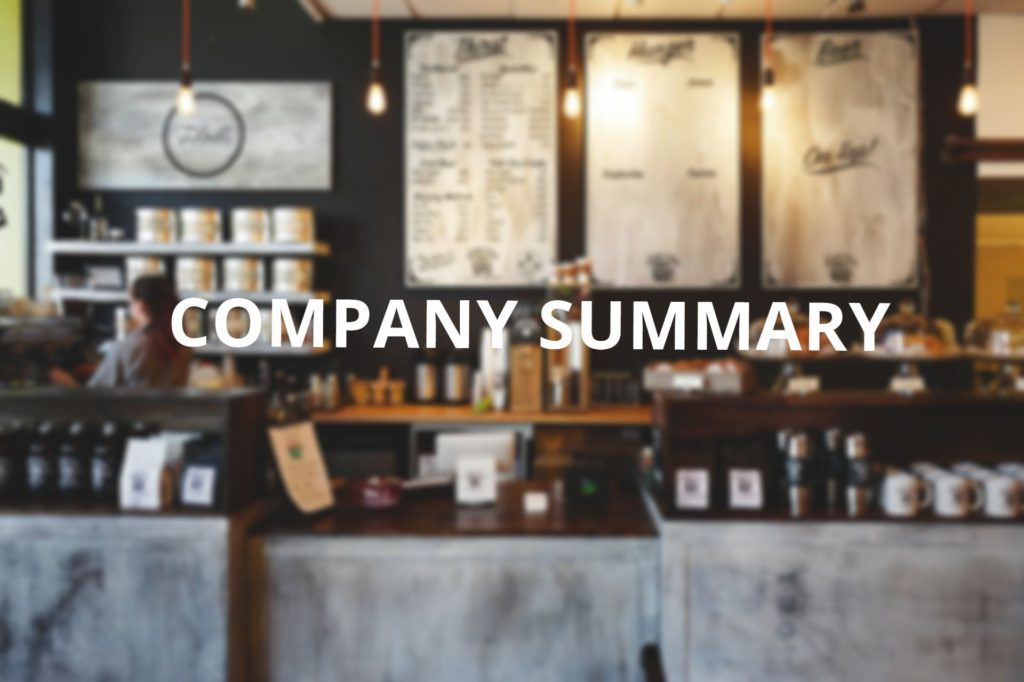 Company summary business plan coffee shop
