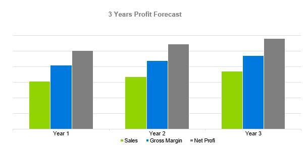 Climbing Gym Business Plan - 3 Years Profit Forecast
