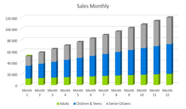 Dental Office Business Plan - Sales Monthly