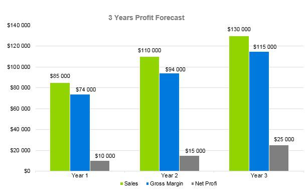 Financial Advisor Business Plan - 3 Years Profit Forecast