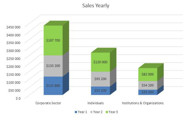 Financial Advisor Business Plan - Sales Yearly