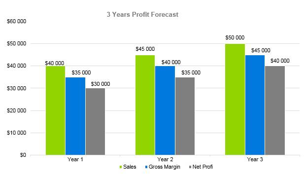 Law Firm Business Plan - 3 Years Profit Forecast