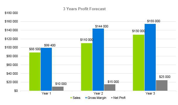 Self Storage Business Plan - 3 Years Profit Forecast