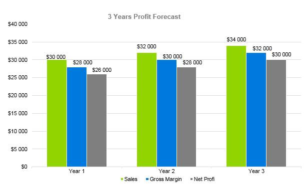 Vape Shop Business Plan - 3 Years Profit Forecast