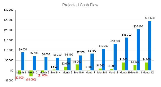 Cell Phone Business Plan - Projected Cash Flow