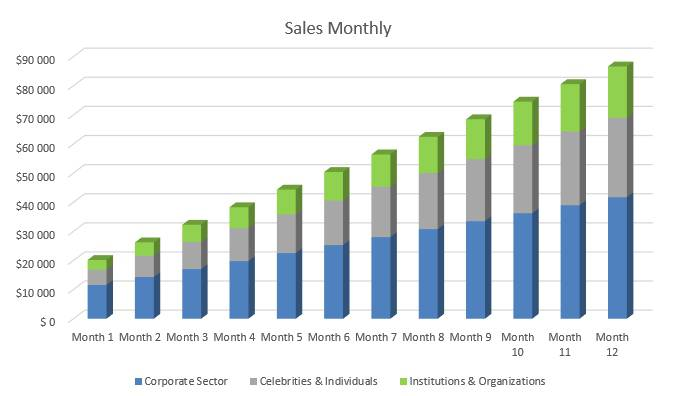 Cyber Security Business Plan - Sales Monthly