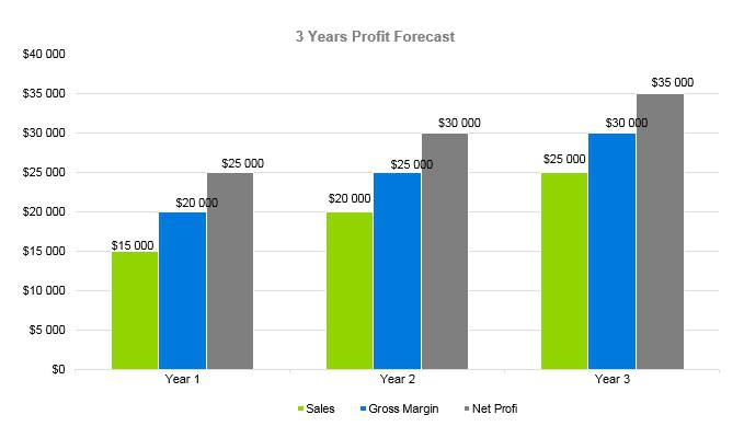 Hot Sauce Business Plan - 3 Years Profit Forecast