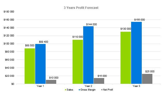 Nursing Home Business Plan - 3 Years Profit Forecast