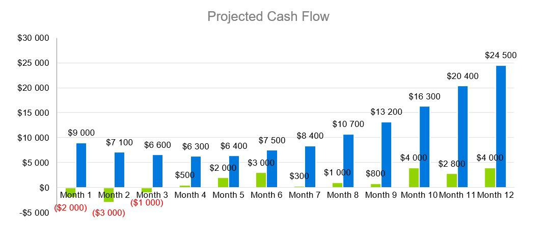 Projected Cash Flow - Coffehouse Business Plan
