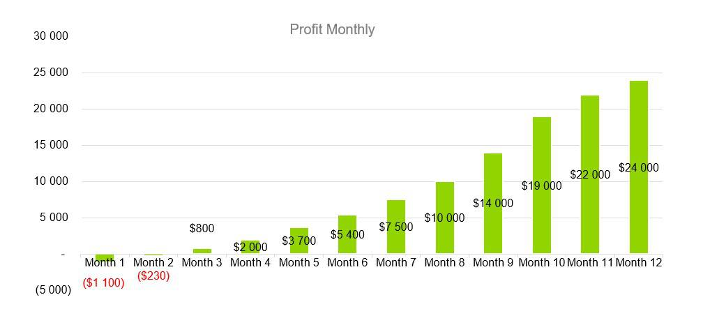 Profit Monthly - Music Business Plans