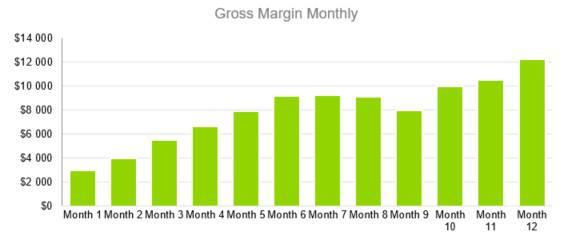 Amusement Park Business Plan - Gross Margin Monthly