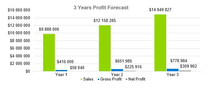 Business Consulting Firm Business Plan - 3 Years Profit Forecast