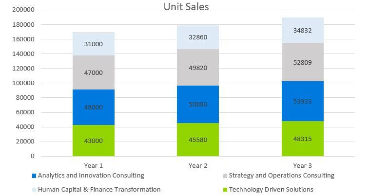 Business Consulting Firm Business Plan - Unit Sales