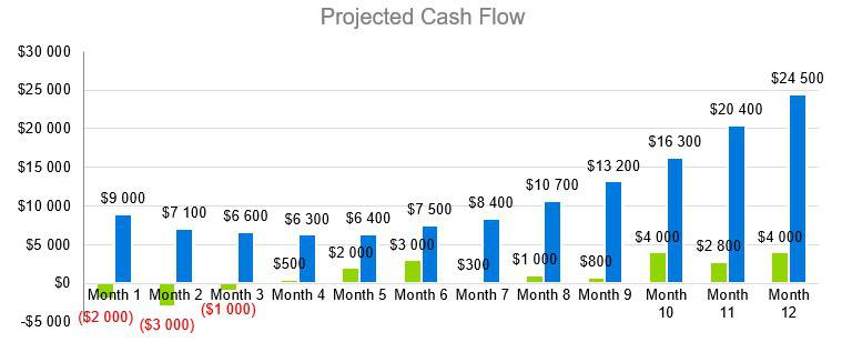 Dog Kennel Business Plan - Projected Cash Flow