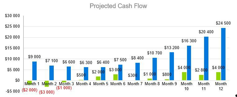 Greenhouse Business Plan - Projected Cash Flow