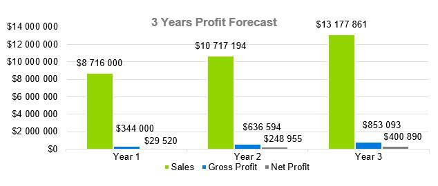 Window Tint Business Plan - 3 Years Profit Forecast