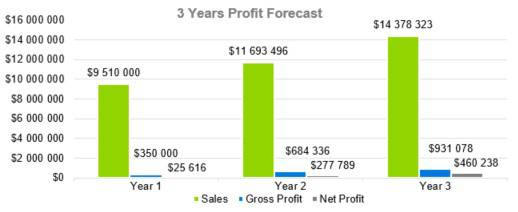 3 Years Profit Forecast - Digital Marketing Agency Business Plan Template