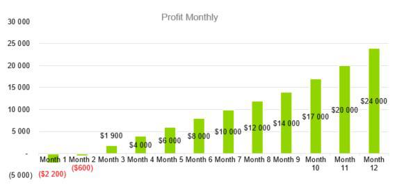 Profit Monthly - Digital Marketing Agency Business Plan Template