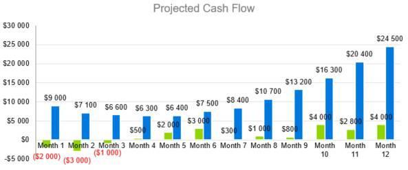 Motel Business Plan Template - Projected Cash Flow