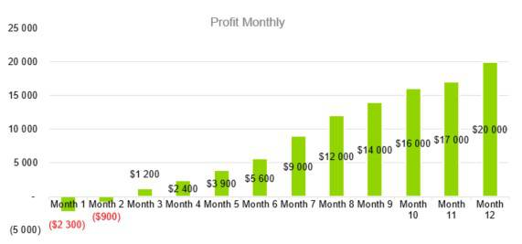 Profit Monthly - Courier Company Business Plan Template